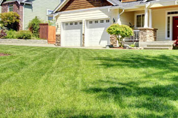 Lenawee home with a professionally mowed and maintained lawn.